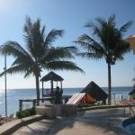 Lovely beach area with palapas and beach bar service.