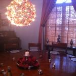 The round table where dinner is served