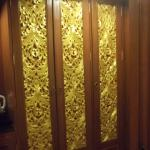 Beautiful Thai design on the cupboards