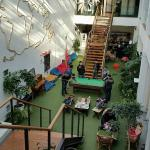 Common area of the Lisbon Destination Hostel