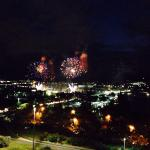 Aust Day Celebration fireworks ACT view from balcony 19th floor