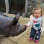 Emily-May getting to know the animals :o)
