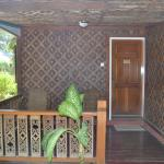 The entrance/balcony of your bungalow