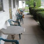 Places to sit outside the rooms