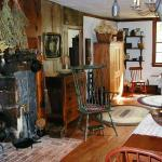kitchen with hearth