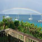 View from M-Ocean studio with rainbow