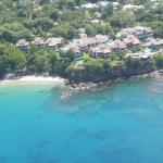View from the helicopter - Private beach, resort and restaurant