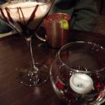 Moscow Mule and Chocolate Martini at the Vertex