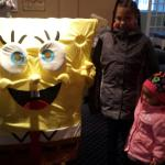 Sponge Bob showed up at the resort for the kiddies.