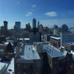 Panoramic shot from window Room 901
