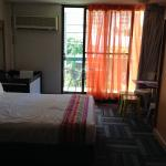 Very basic room, but clean & decent portacot with extra mattress provided