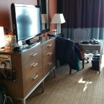 Room - desk, drawers and TV at Fairmont Pittsburgh