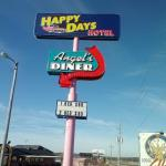 Sign for the Happy Days Hotel