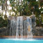 Heated Pool with pretty Waterfall feature