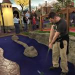 Playing putt-putt on their 18-hole course