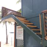 Stairs to go to the 'upgraded' rooms (seasight!)