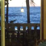 resort is right on the beach