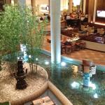 This is part of the lobby near the cafe/lounge as taken from the 2nd floor balcony