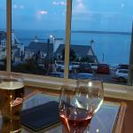 Stunning  view in January, chilling in the bar before our evening meal.