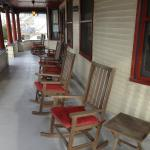 Wrap around porch is beautiful at the Candlelight Inn