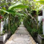 the walkway to the rooms