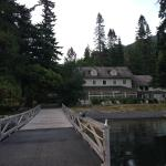 View of the lodge from the dock.