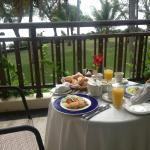 Breakfast after our wedding day served on our balcony