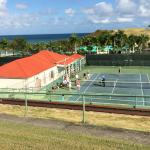 Tennis courts right in center of property