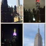 Our room with a beautiful view of the Empire State Building - day and night.