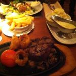 Great food, had a steak, cooked really well. There wasn't a blue cheese sauce on the menu, the c