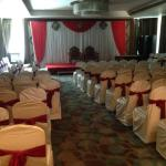 Conference room holding a wedding event