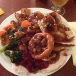 Excellent carvery full of flavour  3x the amount of meat than a Toby