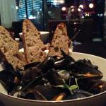 moules mariniere at 58 degrees Grill