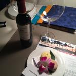 Surprise Complimentary wine and macrons for Valentines