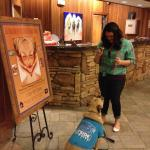 "Travelin' Jack anticipates his Pet Welcome Treat!  ""THANKS a dog-zillion Lodge @ Sierra Blanca"""
