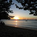 Sunset at Rodney Bay