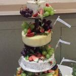 Here is our Wedding cake . Cheese by deli ecosse .