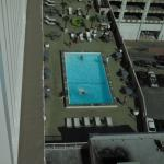 View of the pool 10 floors below