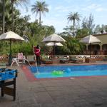 Pool cleaning at the Gunjur Project Lodge
