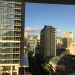 View of Waikiki from our suite