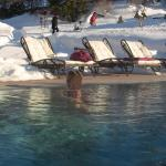 outdoor pool in winter (snow)