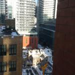 Looking out the Window of my Room at the Hilton Garden Inn Downtown Toronto