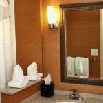 Guest room bathrooms with upgraded fixtures and amenities
