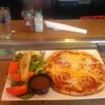 Pepperoni pizza and salad special