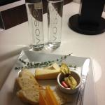 Cheese Plate and water