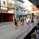 Looking down the Walking street from the street side counter