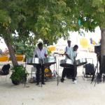 Jamaican band playing on the beach