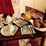 Awesome breakfast delivered in our room!