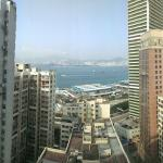 My view of Hong Kong harbor from the 21st floor