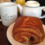 Breakfast chocolate croissant